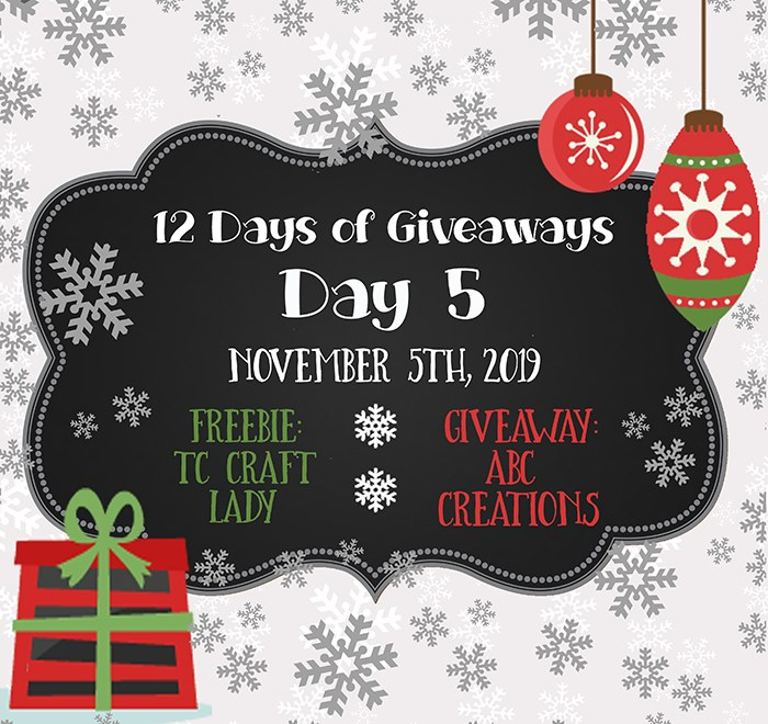 12 Days of Giveaways – Day 5