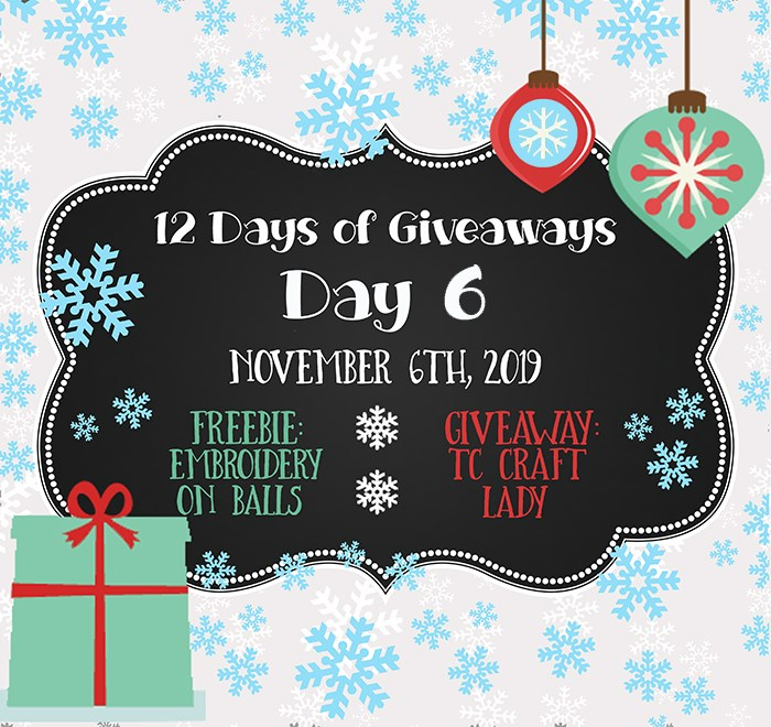 12 Days of Giveaways – Day 6 – OUR DAY!