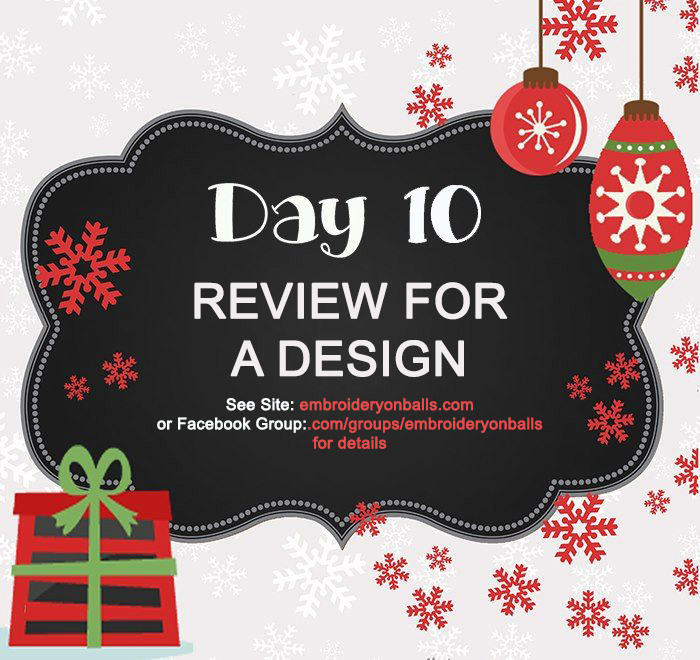 Day 10 – Review for a Design