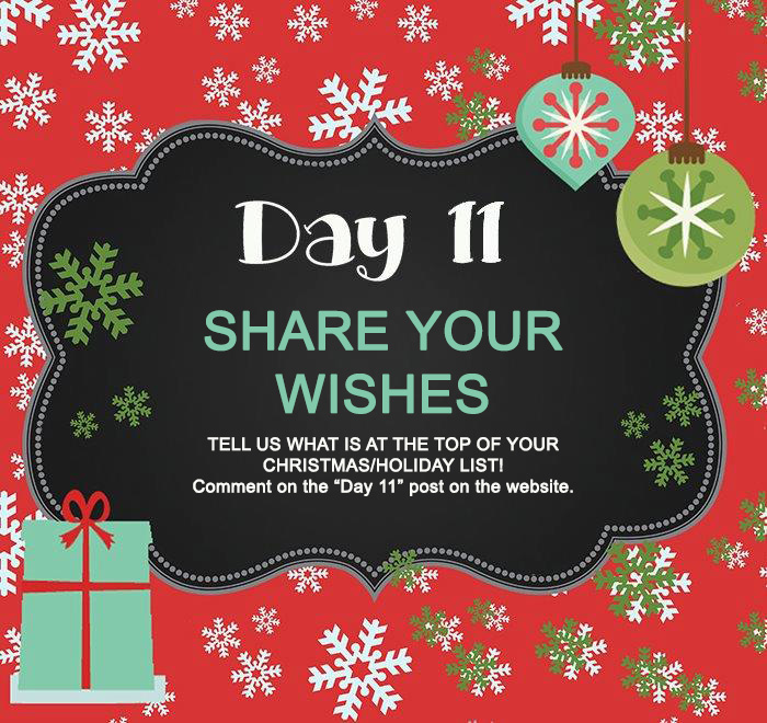Day 11 GIVEAWAY- What's on your Christmas/Holiday List?