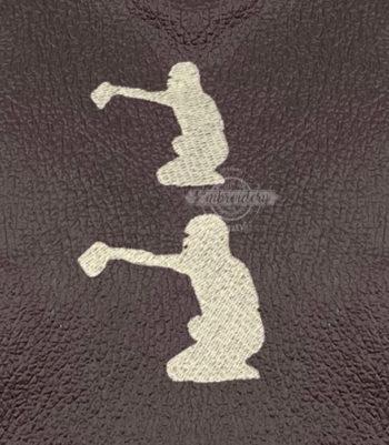 Baseball Softball Catcher Player Mini Machine Embroidery Design