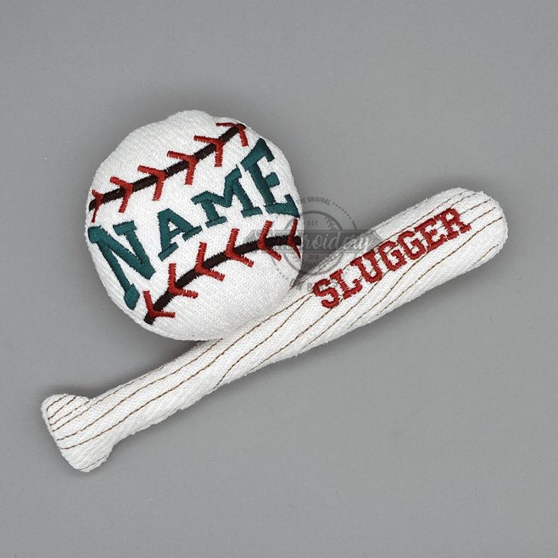 Softball Baseball Ball Bat Stuffed MAchine Embroidery Design