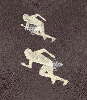 Ball Player Runner Machine Embroidery Designs