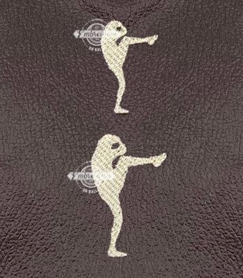Ball Player Catcher Machine Embroidery Design