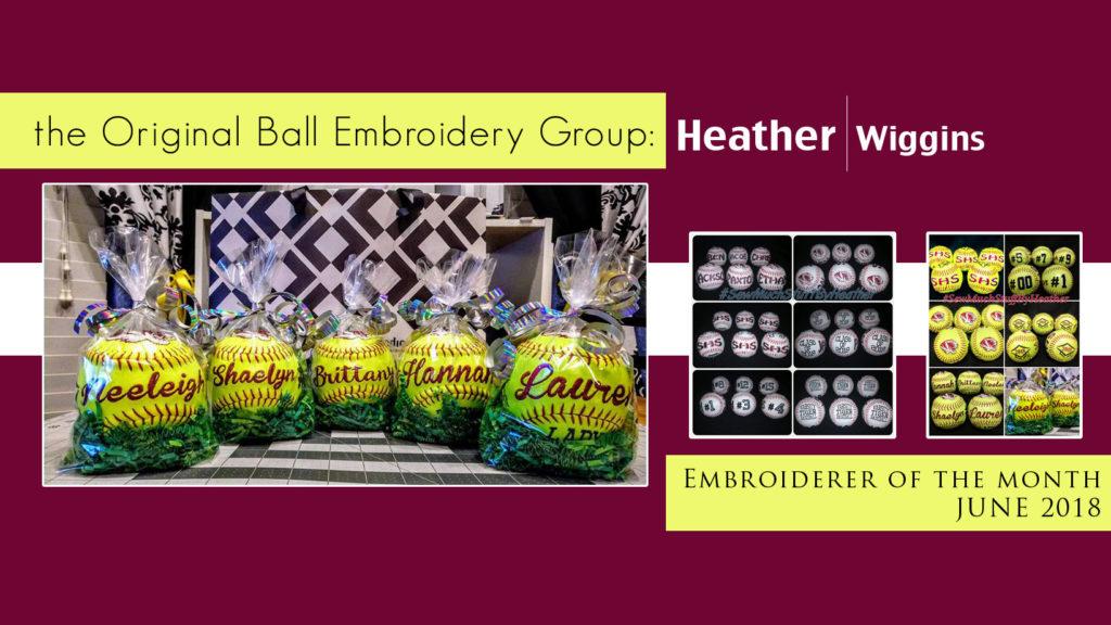 Heather D Wiggins -Facebook Embroiderer of the Month June 2018