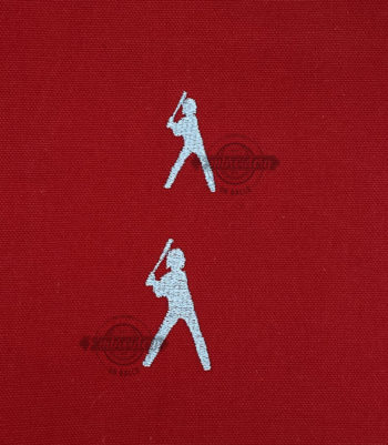 Little Players Batter Stance Child Machine Embroidery Design