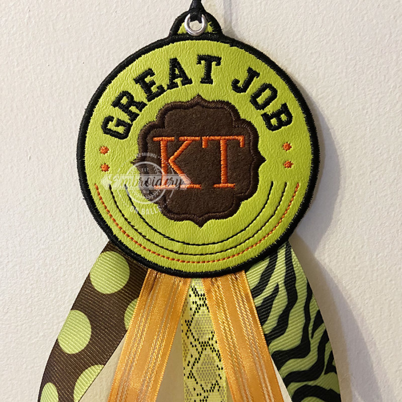 Ribbon Award In the Hoop Machine Embroidery Design