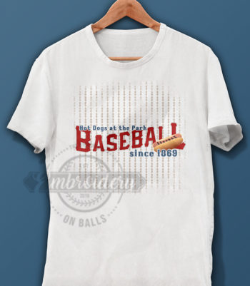 Baseball Hotdog Graphic Design