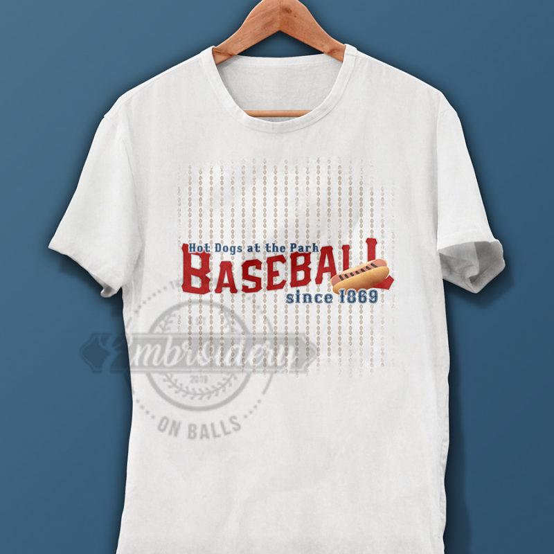 Baseball Hotdog Graphic Design