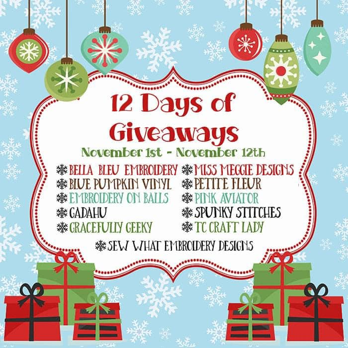 GET READY for the 3rd Annual 12 Days of Giveaways