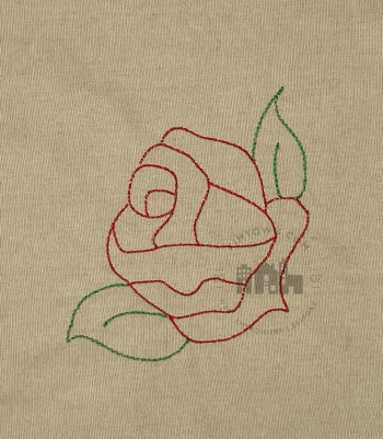 Corner Rose Outline - Machine Embroidery Design