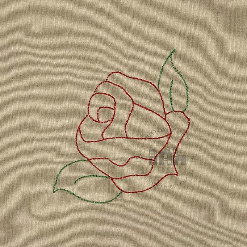 Corner Rose Outline - Machine Embroidery Design