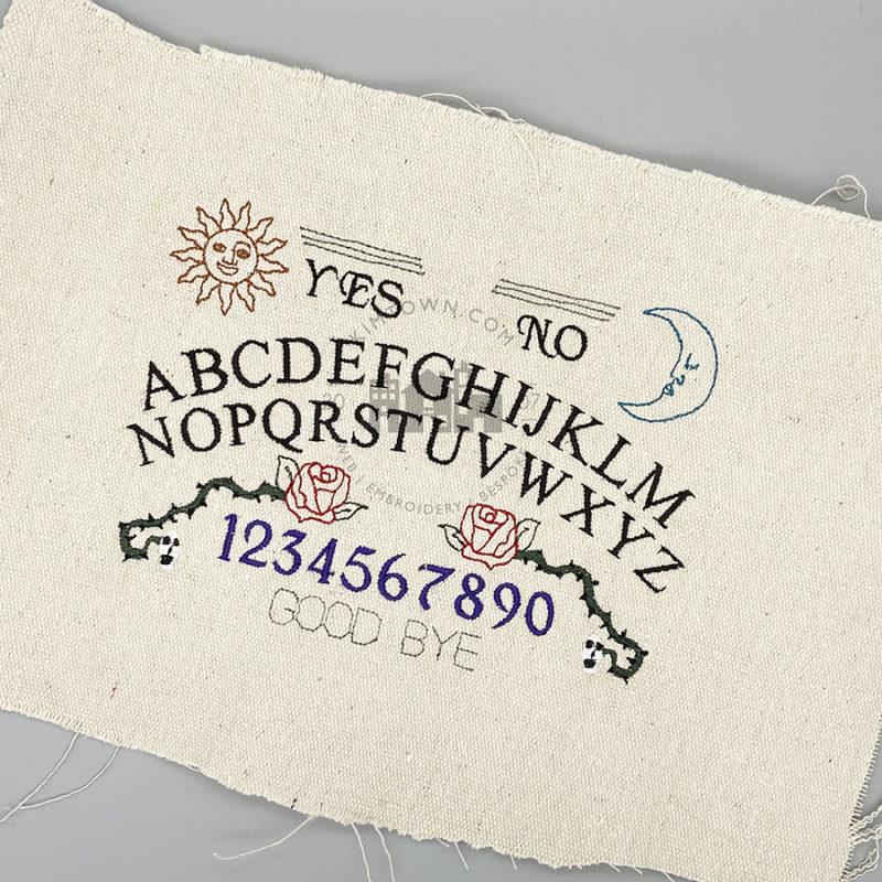 Spirit Board Embroidery Design