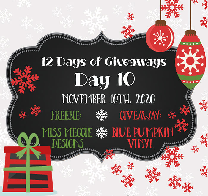 12 Days of Giveaways – Day 10 – 2020