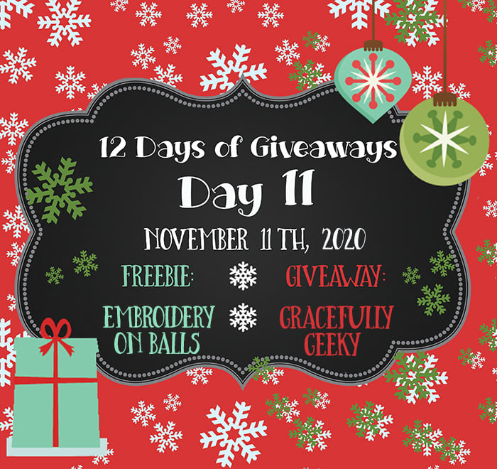 12 Days of Giveaways – Day 11 – 2020