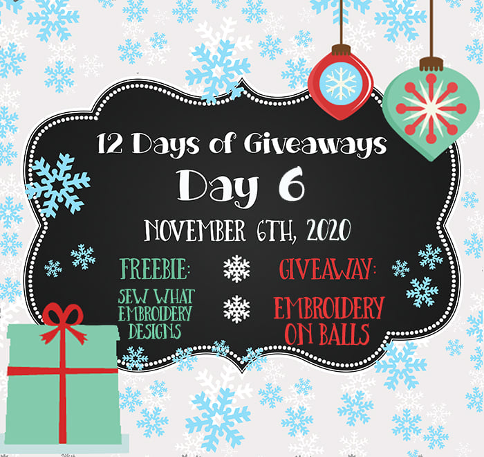 12 Days of Giveaways – Day 6 – 2020