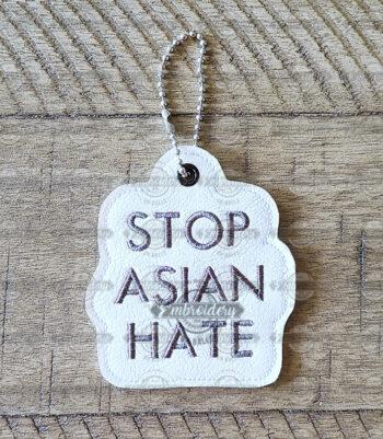 Stop Asian Hate Keyfob Ornament Key Chain