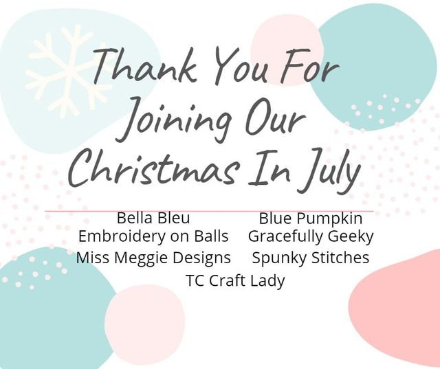Thank you – 3rd Annual Christmas in July