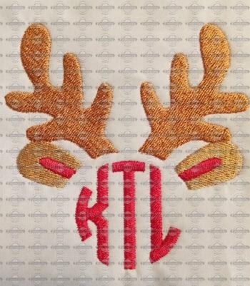 Deer Antlers Monogram